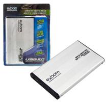 Case Externo para HD Sata 2.5 de Notebook Cabo Usb Exbom Slim -