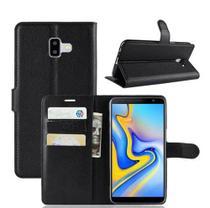 Case Flip Cover Carteira Novo Galaxy J6 Plus j610 6.0 + Pelicula Vidro - Hmaston