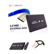 Case Hd Externo Sata 2.5 Hdd Notebook Usb Gaveta Alumínio Slim De Bolso - Aquiébarato