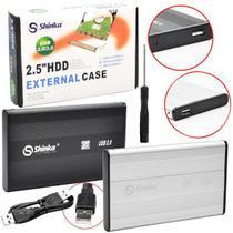 Case Para HD Externo Notebook 2,5 Pol USB 2.0 Sata Com Capa - Shinka