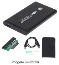 Case Usb 3.0 Em Alumínio capa Para Hd externo Sata De 2,5 De Notebook - Sufeng