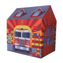 Casinha Barraca do Bombeiro infantil tenda toca DM Toys DMT5653 -