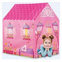 Casinha Barraca Rosa infantil tenda toca leitura DM Toys DMT5652 -