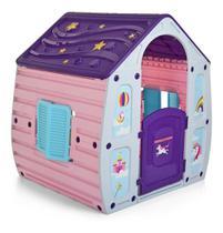 Casinha Brinquedo Ultra resistente Criança Boneca Portátil Unicórnio  0,90 X 1,10 X 1,10 m Área Externa - Starplay
