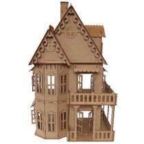 Casinha casa  Castelo Boneca tipo Polly Pocket CC1SM - Companhia do mdf