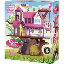 Casinha de boneca casa na arvore c/ bonecos homeplay unidade -