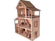Casinha de Boneca Polly + 43 móveis - A Princesa Artesanatos