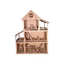 Casinha De Boneca Polly Lol Mdf Com 43 Móveis Brinquedo - A Princesa Artesanatos