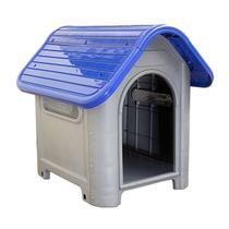 Casinha de Cachorro Grande Mec Pet Azul -