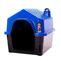 Casinha Durahouse com Chaminé Durapets para Cães Azul -