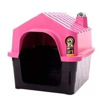 Casinha Durahouse com Chaminé Durapets para Cães Rosa -