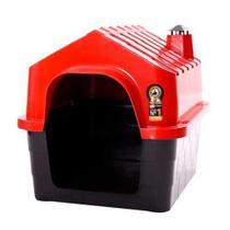 Casinha Durahouse com Chaminé Durapets para Cães Vermelha -