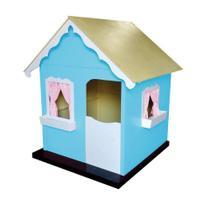 Casinha Infantil de Brinquedo com Cortina Tiffany/Branco - Criança Feliz -