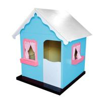 Casinha Infantil de Brinquedo com Cortina Tiffany/Rosa - Criança Feliz -