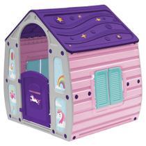 Casinha Infantil de Brinquedo Unicornio Portatil Bel Brink - Rosa -