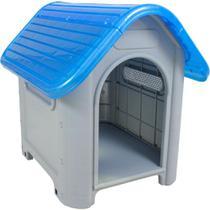 Casinha para Cachorro Medio Porte Plástica Mec N.3 Azul -