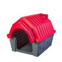 Casinha Plástica Chaminé N.5 Vermelha - Clicknew - Rotoplas