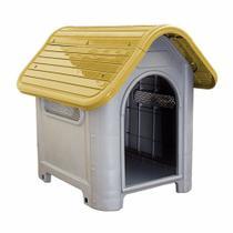 Casinha Plástica Para Cachorro Dog Home Número 3 Amarelo - Mec