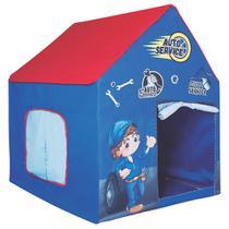Casinha Tenda Infantil de Tecido com Armação Resistente Azul - Outfiter