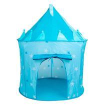 Castelo Cabana Barraca Portátil Infantil Azul Menina Menino - Magma