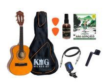 Cavaco Elétrico Vogga VCC520 Natural Capa Luxo Limpa Cordas - KING MUSICAL