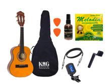 Cavaco Elétrico Vogga VCC520 Natural Limpa Cordas Afinador - KING MUSICAL