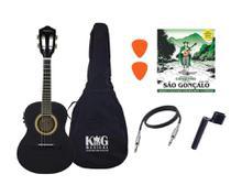 Cavaco Elétrico Vogga VCC524 Preto Capa Encordoador - King Musical