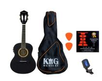 Cavaco Elétrico Vogga VCC524 Preto Corda Afinador Palhetas - King Musical