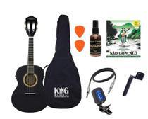 Cavaco Elétrico Vogga VCC524 Preto Limpa Cordas Afinador - KING MUSICAL