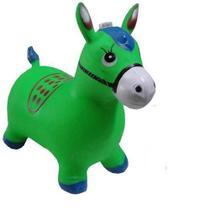 Cavalinho Brinquedo Upa Inflável Com Luses E Som De Cavalo verde - Imports