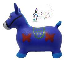 Cavalinho Musical Infantil com Led Azul - Sky
