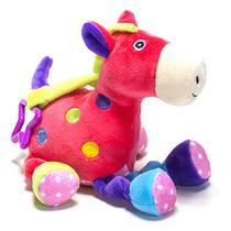 Cavalo de pelúcia c/ chocalho Unik rosa -