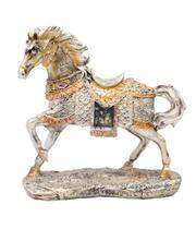 Cavalo Prateado 19cm - Resina Animais - Tascoinport