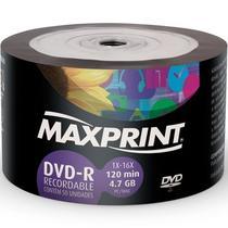 Cd DVD-R Maxprint - Com 50 Peças -