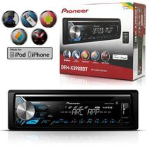 CD Player Automotivo Pioneer com Bluetooth/ MP3/ USB/ AUX/ MIXTRAX Android DEH-X3980BT