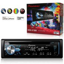 CD Player Automotivo Pioneer com Entrada MP3/ USB/ AUX/ MIXTRAX Android DEH-X1BR