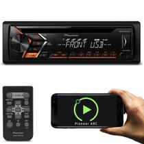 CD Player Automotivo Pioneer DEH-S1080UB 1 Din USB AUX RCA AM FM MP3 Smartphone Aplicativo Mixtrax