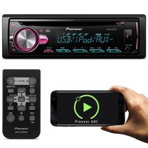 CD Player Automotivo Pioneer DEH-X10BR 1 Din USB MP3 Mixtrax Interface Android IOS Flashing Light