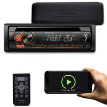 CD Player Pioneer DEH-S1180UB 1 Din LCD Interface Android Mixtrax MP3 USB AUX AM FM CD Destacável