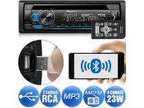 CD Player Pioneer DEH-S4180BT Bluetooth USB Android Iphone Auxiliar Mixtrax 2 Saídas RCA 1DIN