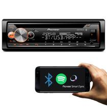 CD Player Pioneer DEH-X5000BR 1 Din Interface Android iOS Mixtrax BT Spotify MP3 USB App Smart Sync -