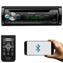 CD Player Pioneer DEH-X500BR 1 Din BT Interface Android iOS Mixtrax Spotify MP3 USB AUX Com Controle -