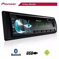 Cd Player Pioneer Deh-x500br Som Automotivo Com Bluetooth* -