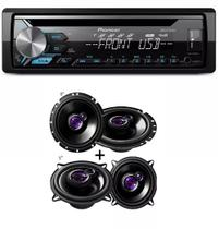 Cd Player Pioneer Mp3 Deh-x1980ub Usb Aux  com Alto Falante Pioneer Kit 5 Ts1360 + 6 Ts1760 200w