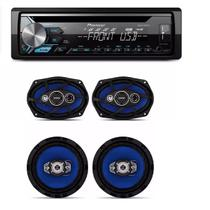 Cd Player Pioneer Mp3 Deh-x1980ub Usb Aux  com Kit Alto Falantes Orion 6x9 E 6 Pol 220w Rms - Pioneer / orion
