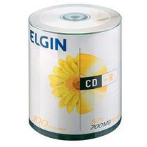 CD-R 700MB 80 Minutos 52X BULK Pino com 100 Unidades - Elgin -