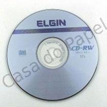 CD-RW Regravável 700MB 80min 12X Elgin com 25 Unidades -
