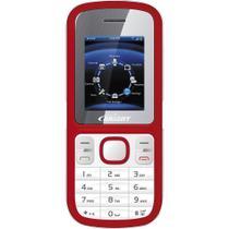 Celular Bright 0498 Desbloqueado com Dual Chip e Câmera Vermelho -