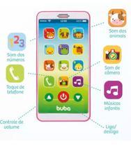 Celular Brinquedo para bebês Baby Phone Buba Rosa -