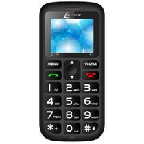 Celular CX-906 Botão SOS Dual Chip Preto - LENOXX -